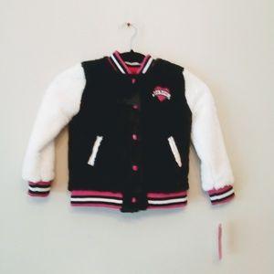 Betsey Johnson Girls Fur Jacket Size 5